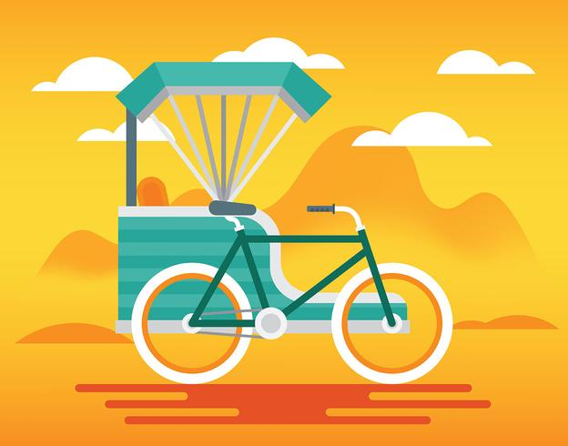 Trishaw-Illustration