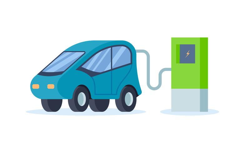 Electric Car Vectors - Download Free Vector Art, Stock Graphics & Images