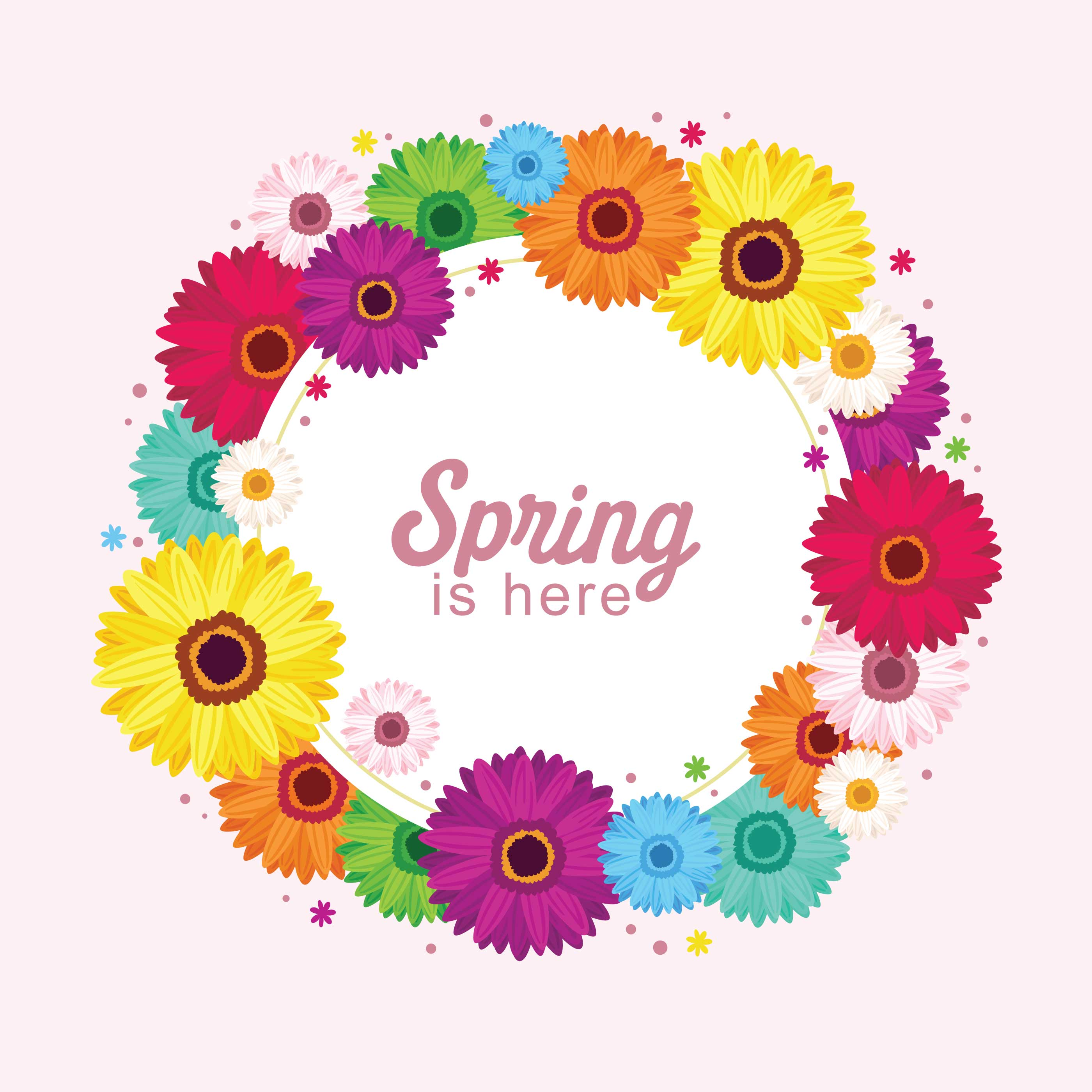 Floral Spring Wreath - Download Free Vector Art, Stock ...