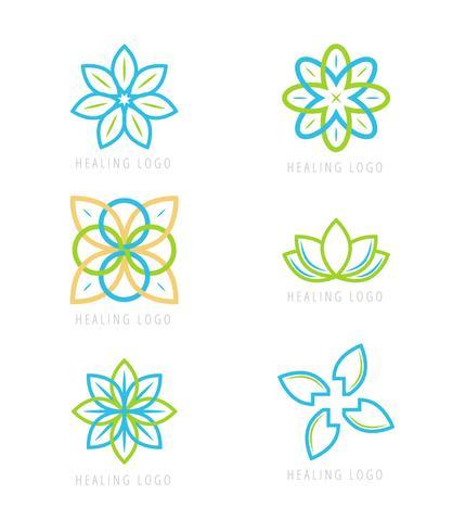 Vecteurs de Logos de guérison emblématique