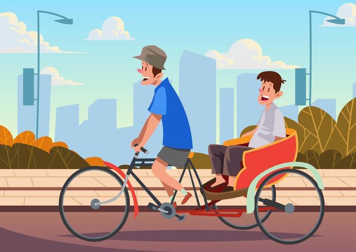 Bicicleta Trishaw