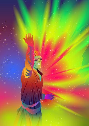 Holi-festival van kleuren