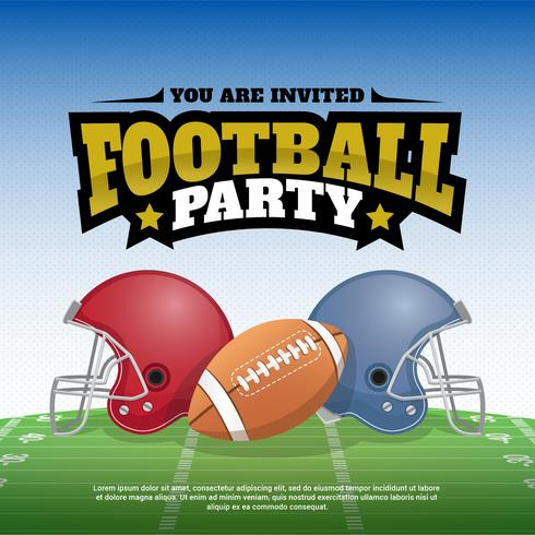 Football Party Vector Illustration Poster Design