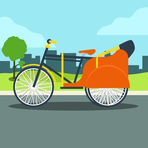Trishaw på gatan