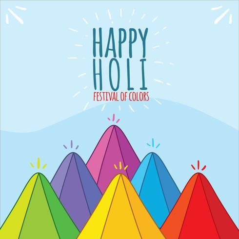Happy Holi Festival en Vector azul