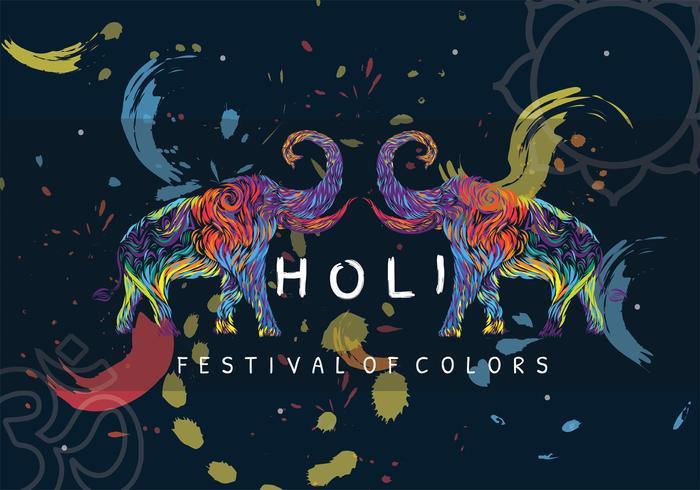 Holi-festival van kleuren Vectorontwerp
