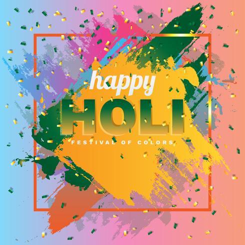 Happy Holi en la ilustración de fondo colorido abstracto Splash