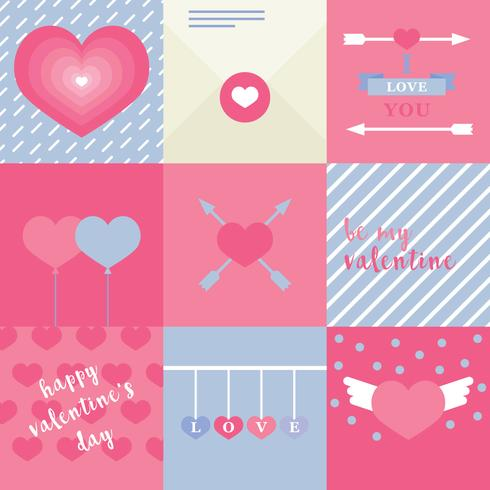 Pinkish Flat Lovely Valentine Cards