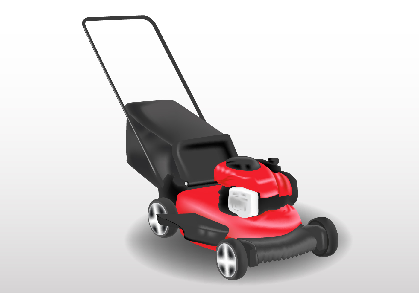 lawn mower vector - photo #12