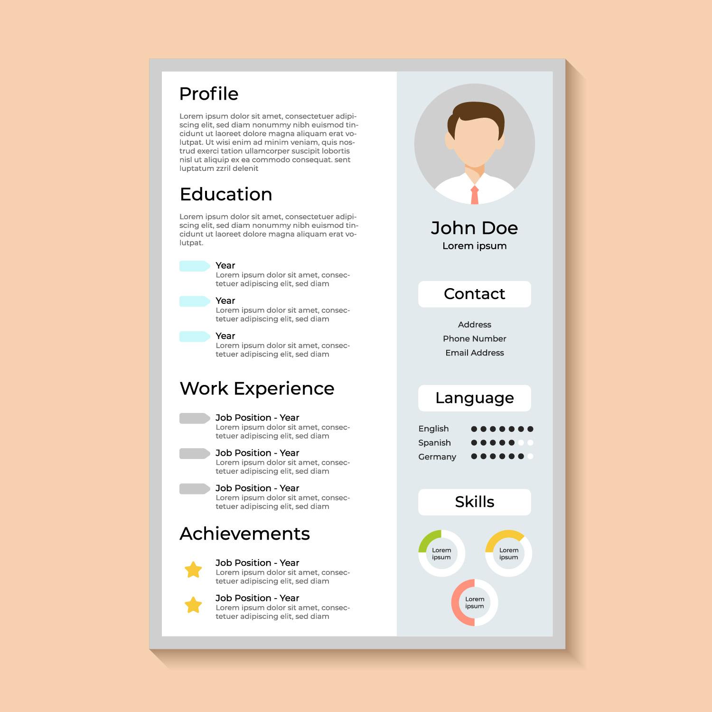 Curriculum vitae corporativo - Descargue Gráficos y Vectores Gratis