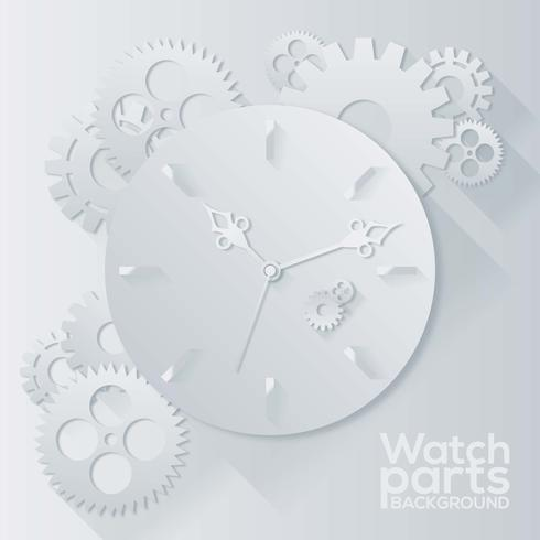 Watch Parts Background Vector