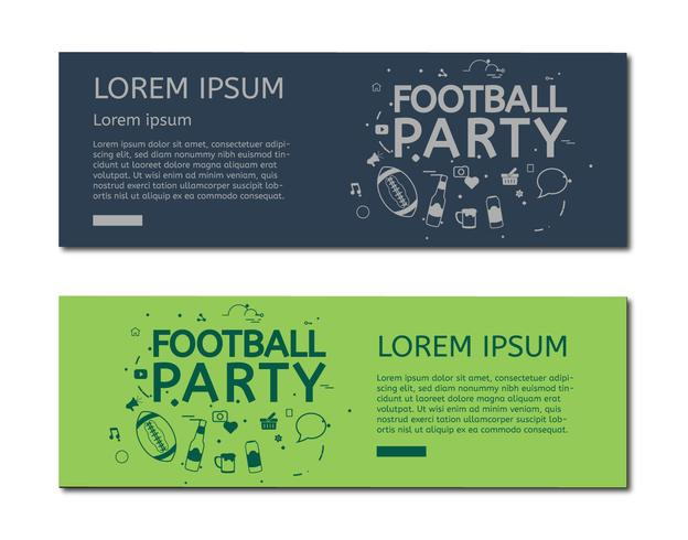 Football party sign