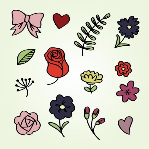 Floral handgezeichnete Ornamente