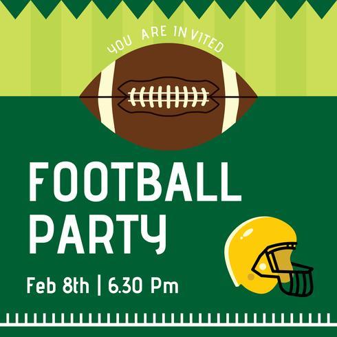 Football Party Vector Invitation