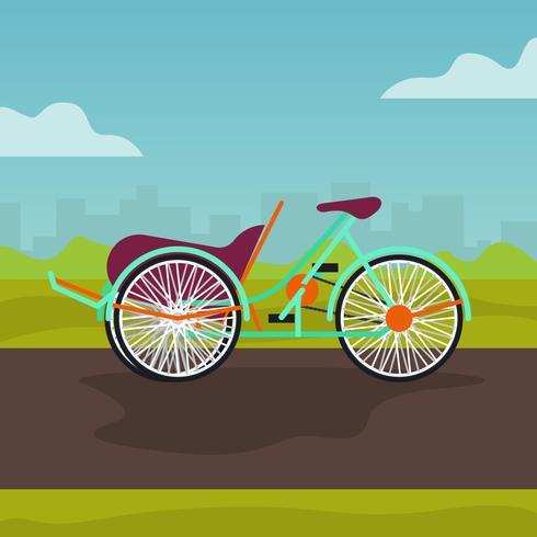 Trishaw flat vector