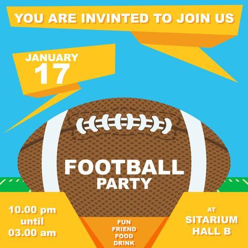 Invitation à une fête de football