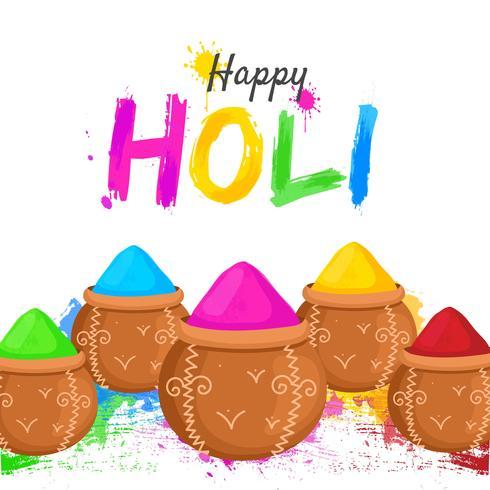 Happy Holi Colorful Background