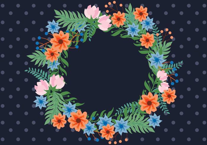 Vector Floral Spring Wreath