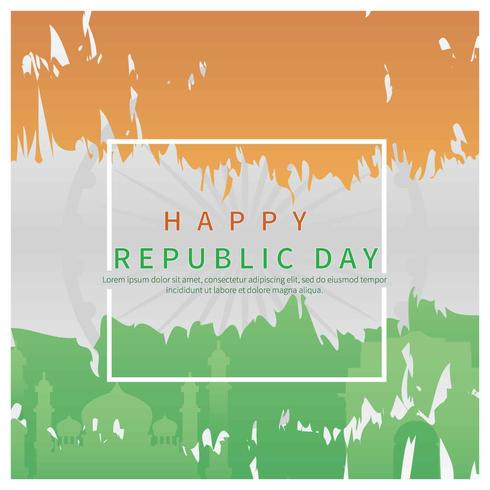 India Flag on Republic Day Illustration