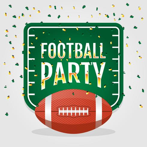 Football Party Invitation Background