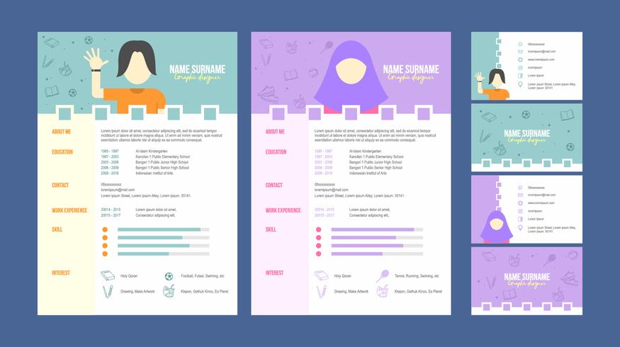 Graphic Designer Resume Template Vector  Download Free Vector Art