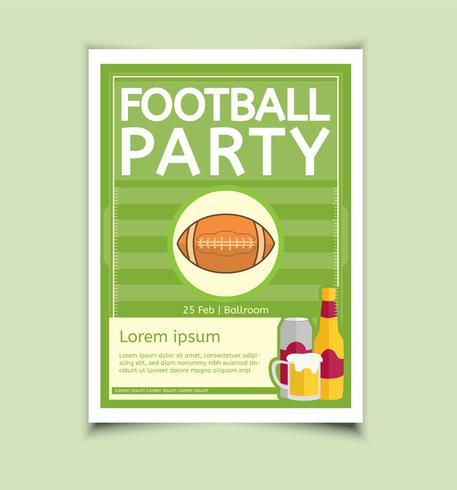 Football party vector