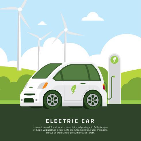 Elektrische auto Vector