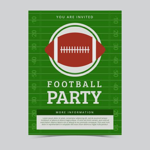 Free American Football Party Flyer Vector - Download Free Vector Art, Stock Graphics & Images