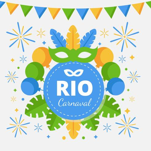Brasilianischer Rio De Janiero Carnaval Vektor