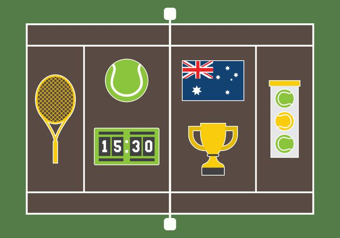 Illustration vectorielle de tennis australien gratuit