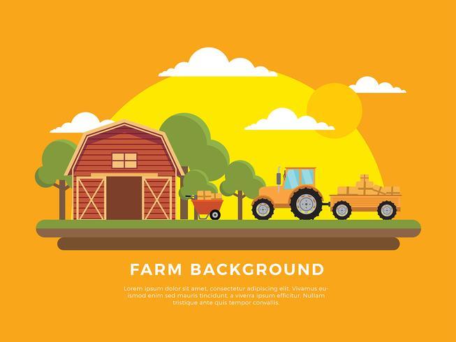 Hayride At Farm Free Vector
