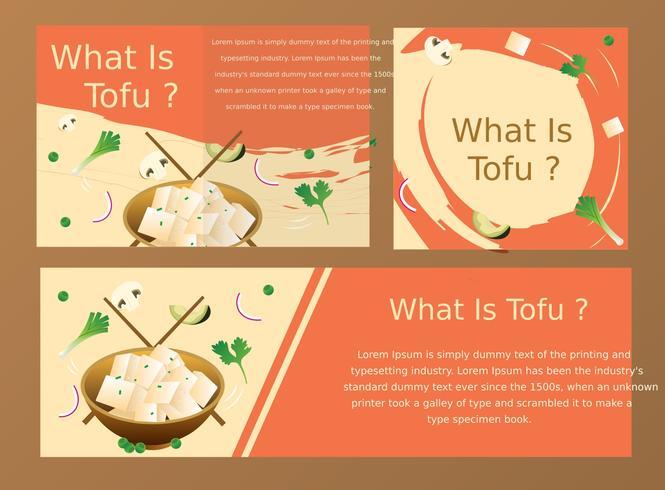 disegno vettoriale di tofu