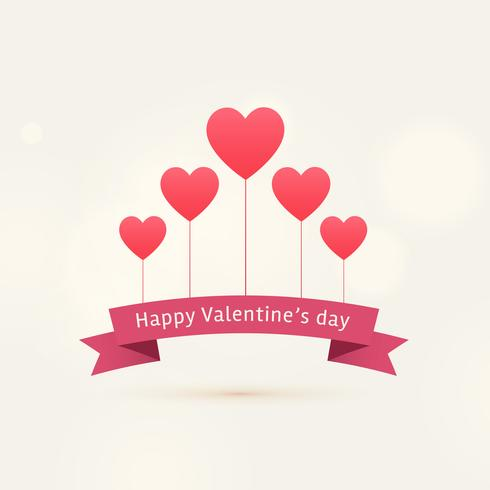 happy valentine's day background with flying hearts