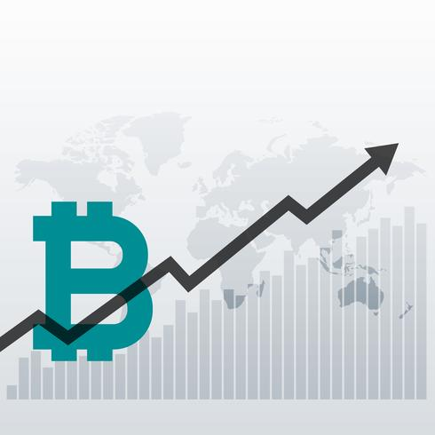 Bitcoin Upward Growth Chart Design Background Download Free Vector