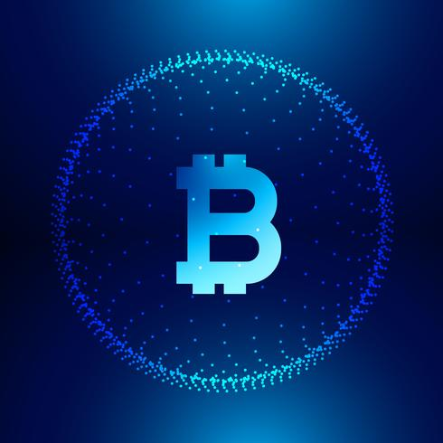 digital technology background for internet bitcoins symbol