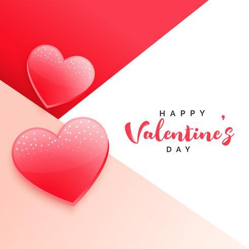 stijlvolle Valentijnsdag achtergrond met twee harten