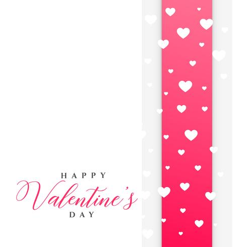 clean valentine's day greeting template with hearts