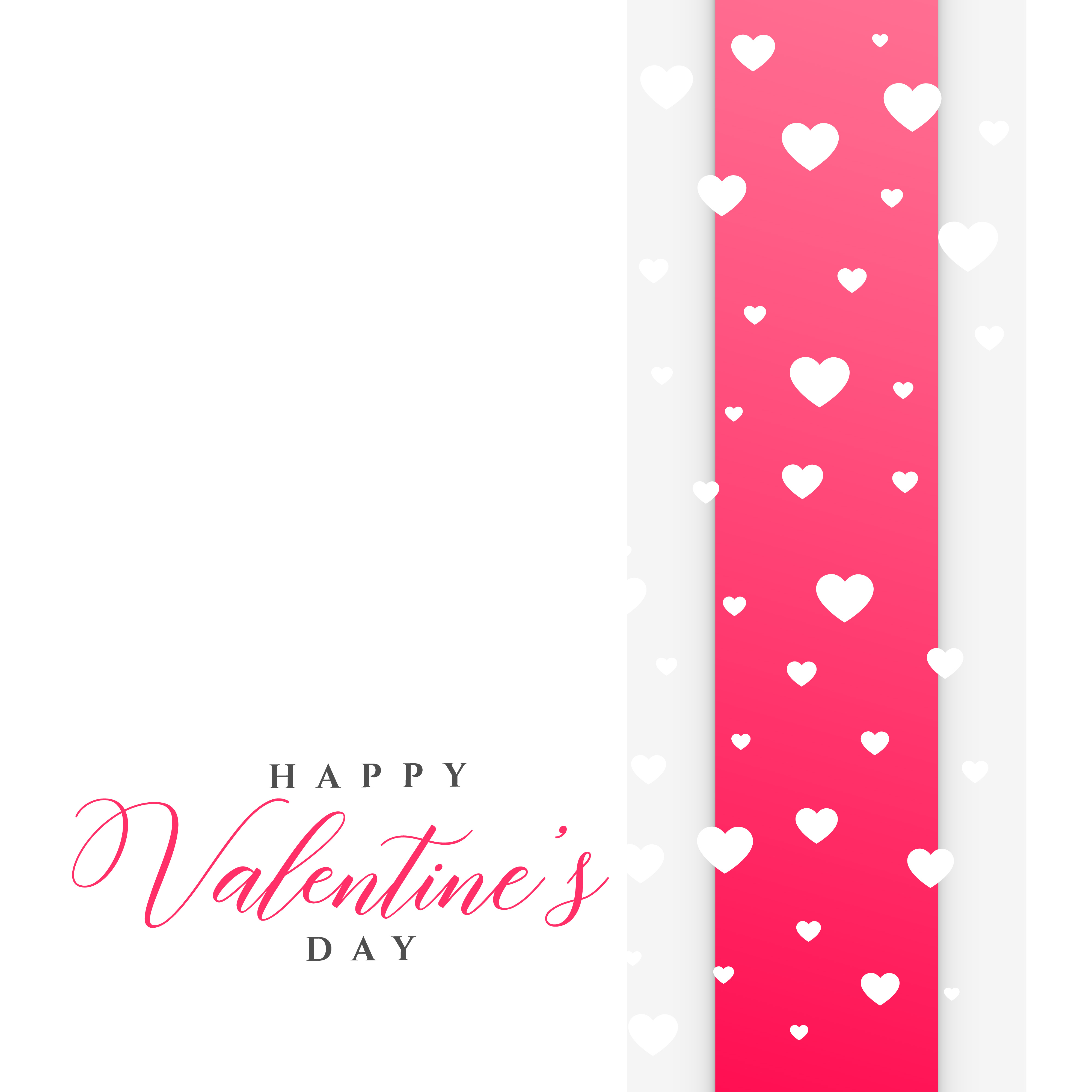 clean valentine u0026 39 s day greeting template with hearts