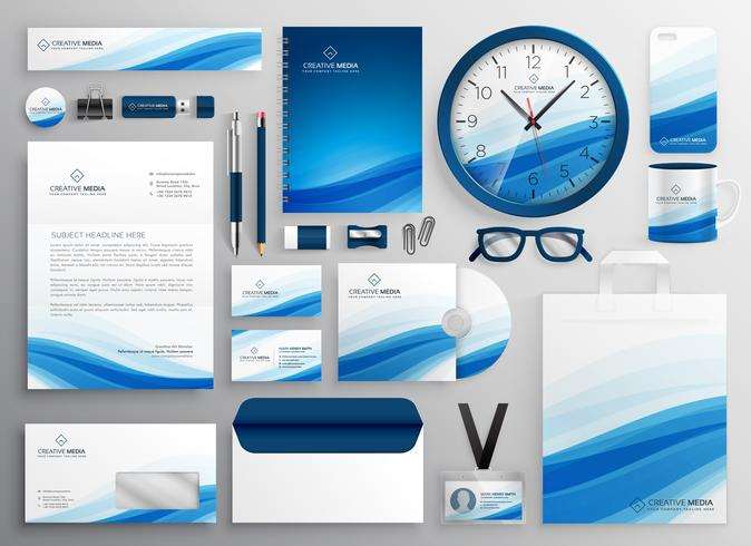 Blue Business Stationery för din varumärkesidentitet
