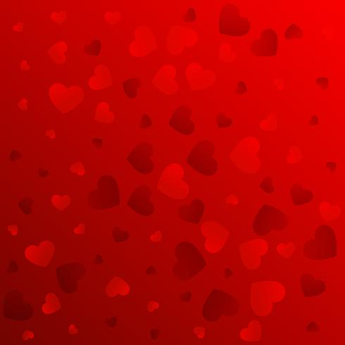 love red background pattern design