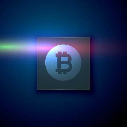 digital bitcoin symbol on dark blue technology background
