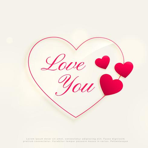 love you design background with heart shapes