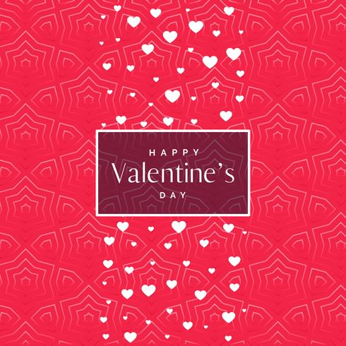 romantic pink valentine's day pattern background with white hear