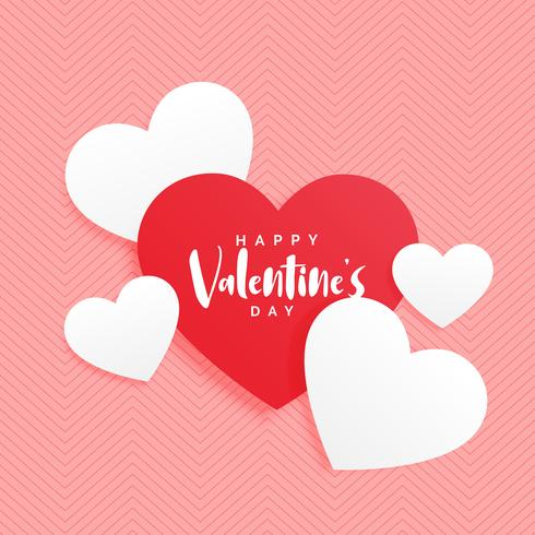 elegant valentine's day red and white heart background