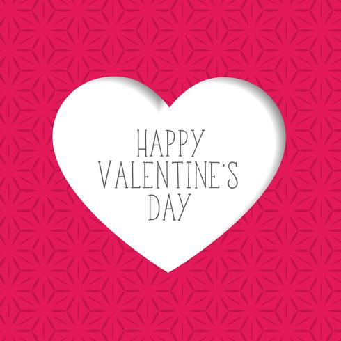 pink valentine's day background with paper cut heart shape