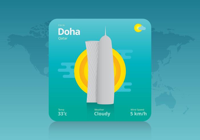 Qatar Weather Illustration - Download Free Vector Art, Stock Graphics & Images