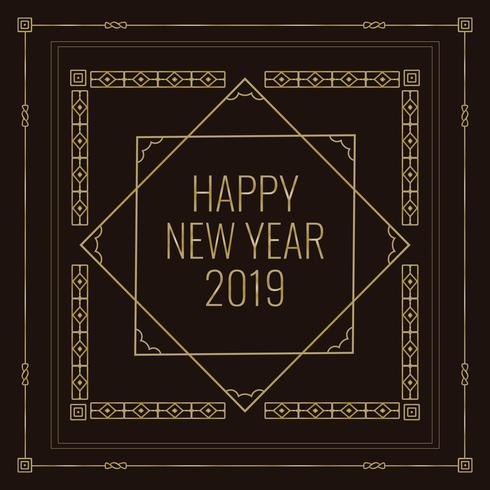 Art Deco Style New Year Illustration - Download Free Vector Art, Stock Graphics & Images