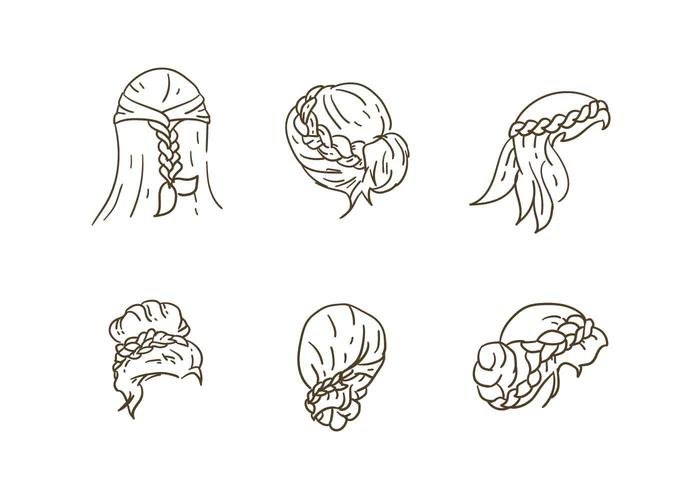Hair Style Collection Vectors