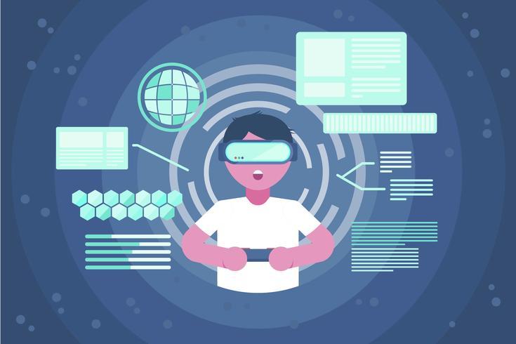 Vecteurs d'expérience de réalité virtuelle vecteur