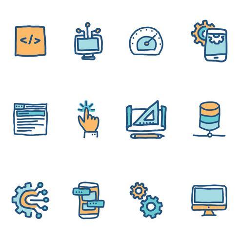 Software program on blue background stock photo image of coding.